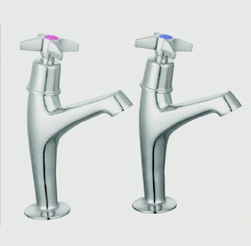SupaPlumb Cross Head Sink Taps - H: 164mm D: 119mm Diameter: 44mm
